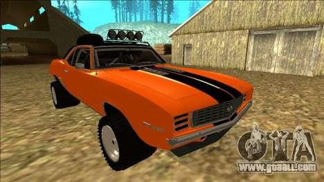 Chevrolet Camaro SS Rusty Rebel for GTA San Andreas interior