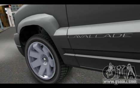 GTA 5 Albany Cavalcade IVF for GTA San Andreas back left view