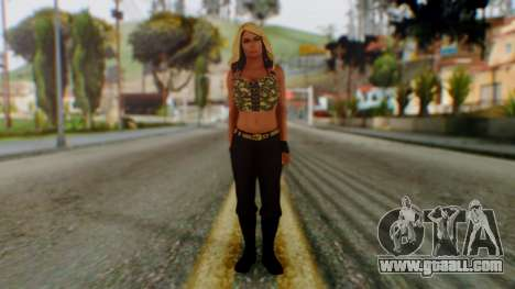 WWE Kaitlyn for GTA San Andreas second screenshot