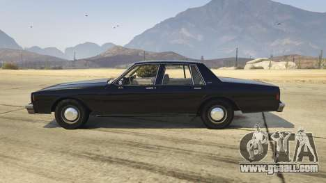 GTA 5 Chevrolet Impala 1985 left side view