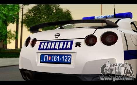 Nissan GT-R Policija for GTA San Andreas right view