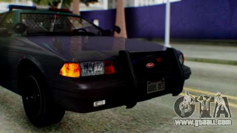 GTA 5 Vapid Stanier II Police IVF for GTA San Andreas back view