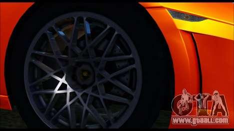 Lamborghini Gallardo LP560 PJ for GTA San Andreas back left view