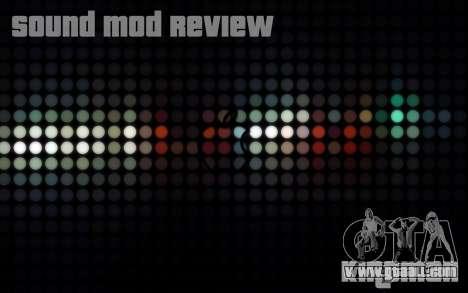 SA Sound Overhaul Mod 2013 for GTA San Andreas