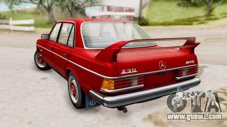 Mercedes-Benz 230E AMG 3.2 1982 Evolution Mod for GTA San Andreas left view