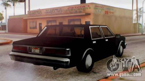 Unmarked Police Cutscene Car Normal for GTA San Andreas right view