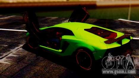 Lamborghini Aventador Mansory for GTA San Andreas back left view