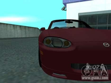 Mazda MX-5 for GTA San Andreas back view