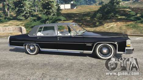 GTA 5 Cadillac Fleetwood Brougham 1985 left side view