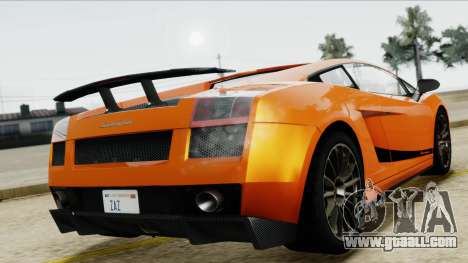 Lamborghini Gallardo Superleggera for GTA San Andreas back view