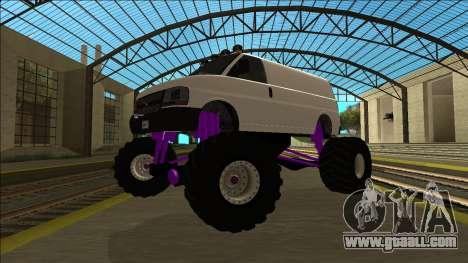 GTA 5 Vapid Speedo Monster Truck for GTA San Andreas back view