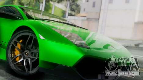 Lamborghini Murcielago LP670-4 SV 2010 for GTA San Andreas back left view