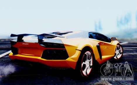 Lamborghini Aventador Mansory Carbonado Color for GTA San Andreas left view