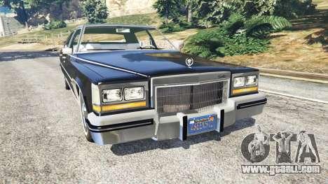 Cadillac Fleetwood Brougham 1985 for GTA 5
