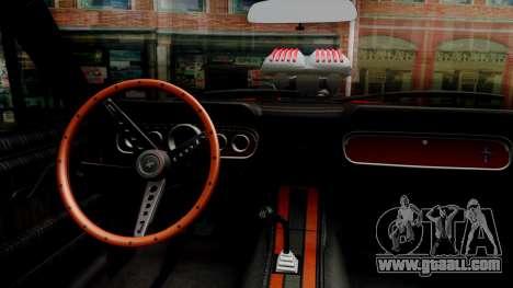 Ford Mustang 1966 Chrome Edition v2 Monster for GTA San Andreas inner view