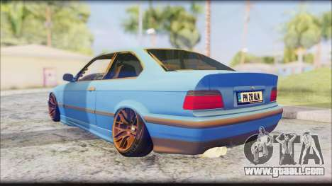 BMW M3 E36 Stanced-Hella for GTA San Andreas back left view