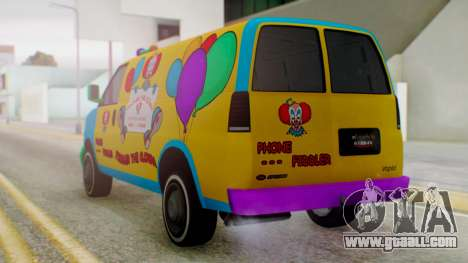 GTA 5 Vapid Clown Van for GTA San Andreas left view