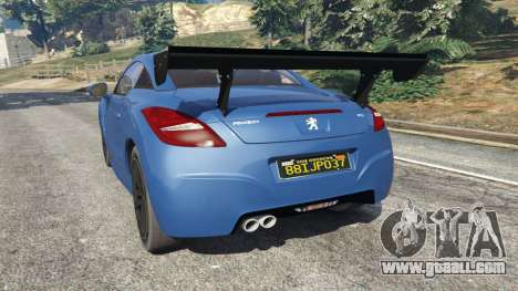 GTA 5 Peugeot RCZ rear left side view