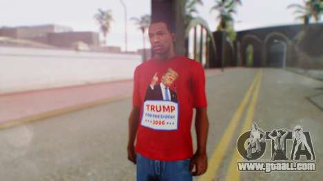 Trump for President T-Shirt for GTA San Andreas