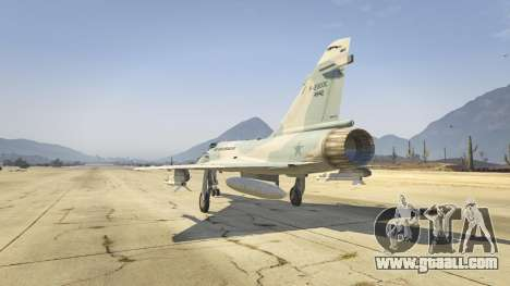 GTA 5 Dassault Mirage 2000-C FAB third screenshot