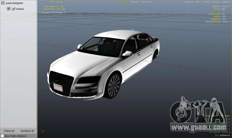 GTA 5 Audi A8 v1.2 right side view