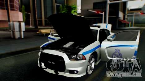 Dodge Charger SRT8 2015 Police Malaysia for GTA San Andreas back view