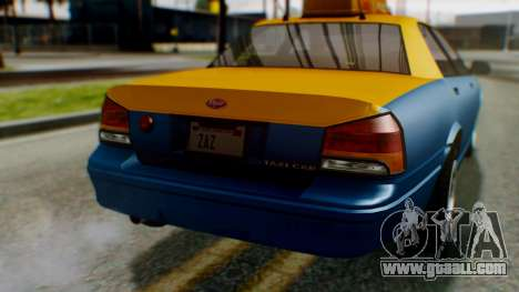 Vapid Taxi for GTA San Andreas side view