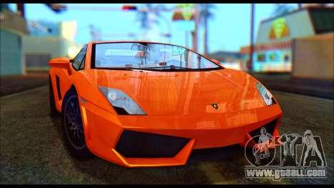 Lamborghini Gallardo LP560 PJ for GTA San Andreas left view