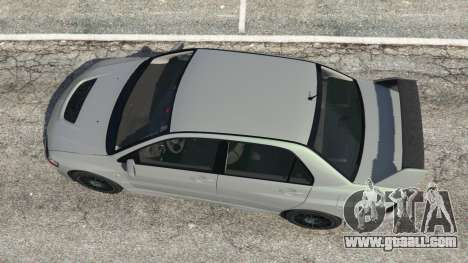 GTA 5 Mitsubishi Lancer Evolution VIII MR back view