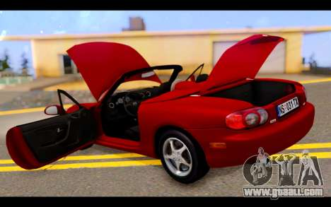 Mazda MX-5 for GTA San Andreas bottom view