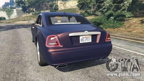 GTA 5 Rolls Royce Ghost 2014 v1.2 rear left side view