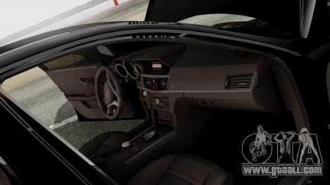Mercedes-Benz E63 AMG PML Edition for GTA San Andreas bottom view