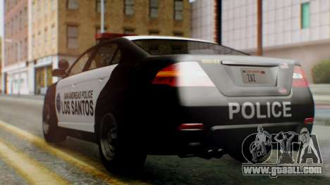 GTA 5 Police LS for GTA San Andreas left view