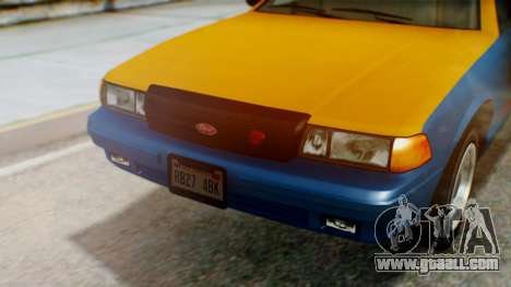 Vapid Taxi with Livery for GTA San Andreas back view