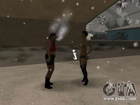 Couples mouth CJ'ya and passers-by for GTA San Andreas third screenshot