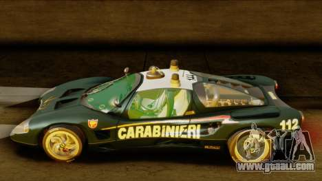 Ferrari P7 Carabinieri for GTA San Andreas back left view
