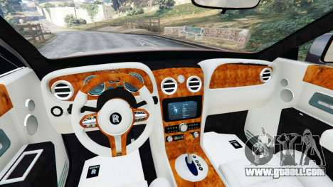 GTA 5 Rolls Royce Ghost 2014 v1.2 rear right side view