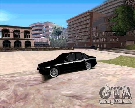 BMW 5-er E34 for GTA San Andreas left view