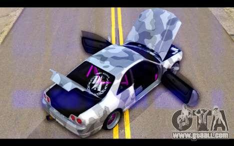 Nissan Skyline R33 Drift for GTA San Andreas bottom view