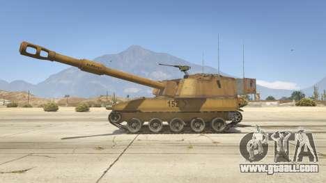 GTA 5 M109 (SAU) Paladin left side view