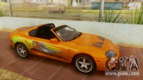 Toyota Supra TRD 1998 for GTA San Andreas side view