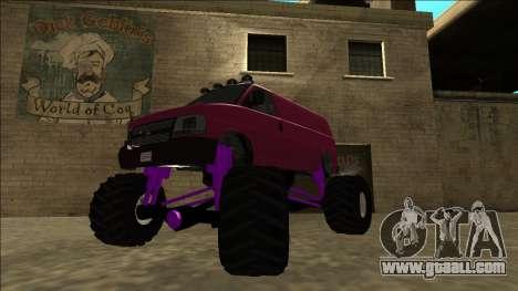 GTA 5 Vapid Speedo Monster Truck for GTA San Andreas back left view