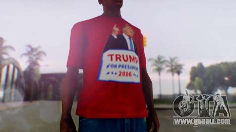 Trump for President T-Shirt for GTA San Andreas second screenshot