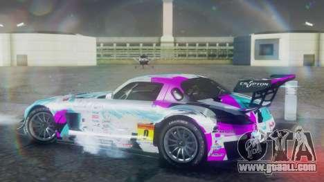 Mercedes-Benz SLS AMG GT3 2015 Hatsune Miku for GTA San Andreas back left view