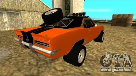 Chevrolet Camaro SS Rusty Rebel for GTA San Andreas wheels