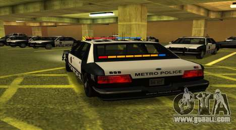 Police LS for GTA San Andreas back left view