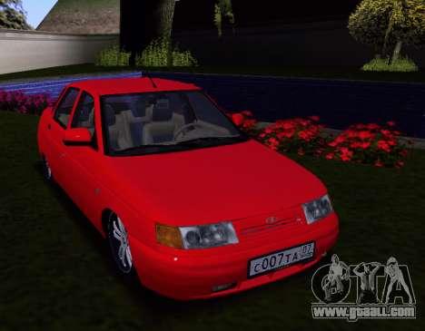 VAZ 2110 KBR for GTA San Andreas inner view