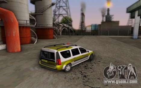Dacia Logan Emdad Khodro for GTA San Andreas left view