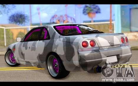 Nissan Skyline R33 Drift for GTA San Andreas left view