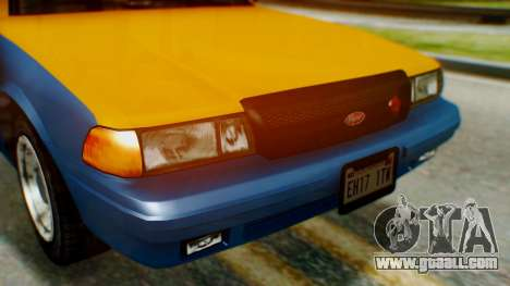 Vapid Taxi for GTA San Andreas back view